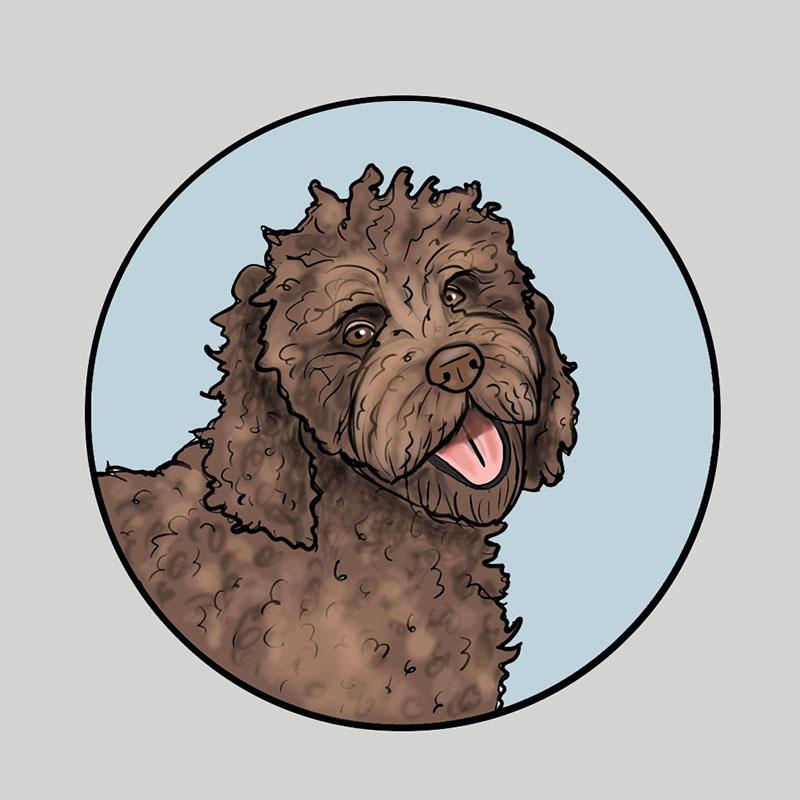 """""""Chewy"""" custom portrait"""