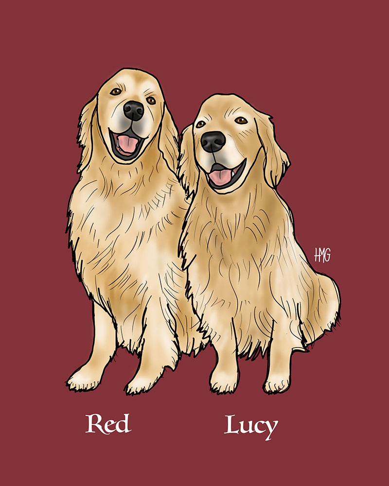 """Red and Lucy"" custom portrait"