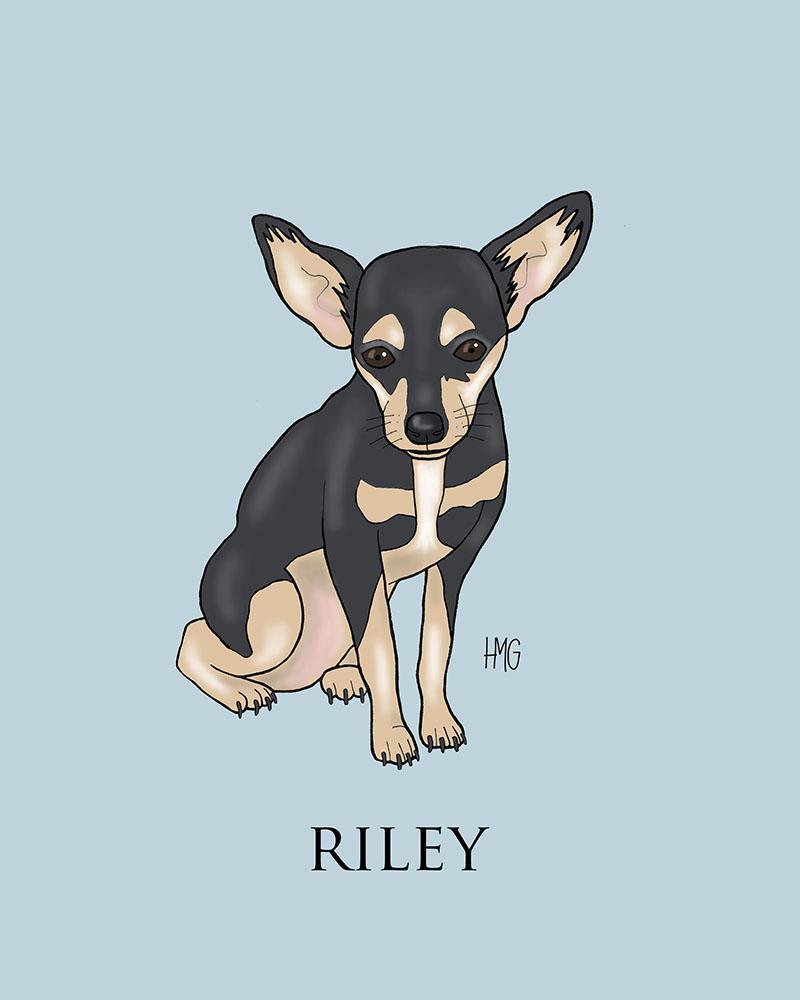 """Riley"" custom portrait"